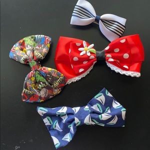 Bows! Minnie, marvel, sailboat, navy and white
